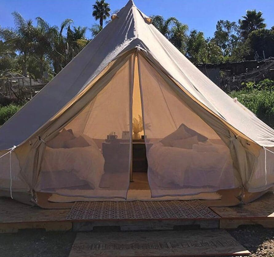 Bell tent glamping at Thamesview-camping